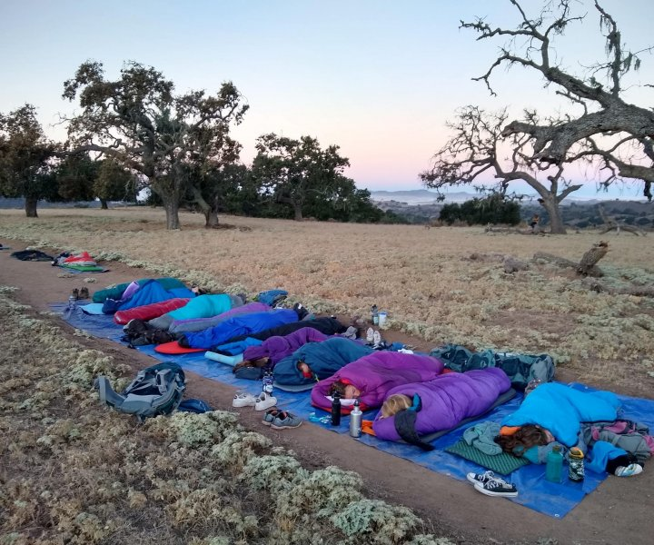 Students Sleep out on Midland's Campus